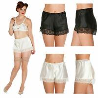 Womens Anti-Static Slip Pettipants Loose Satin Bloomers Panties Short Underwear
