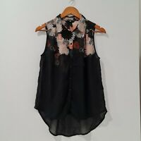 [ H&M ] Women's Floral Printed Sleeveless Blouse Top | Size EUR 34 or AU 6