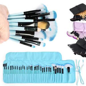 32Pcs Kabuki Makeup Brushes Face Lip Blender Blusher Brushes & Luxury Bag UK