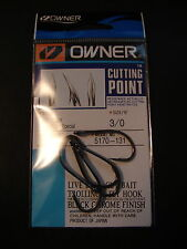 Owner Cutting Point size 3/0 Aki Hook Salt Water Special Black Chrome 5170-131