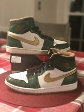 Nike Air Jordan Retro 1 Clover Green Celtics Metallic Gold OG Size 8 555088-315