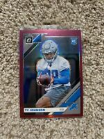 🔥🔥 2019 Donruss Optic Pink Holo Prizm Rookie #145 Lions Ty Johnson RC