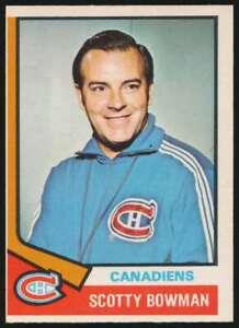1974-75 OPC Scotty Bowman RC #261