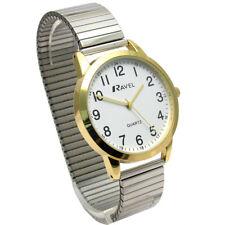 Ravel Men's Easy-Read Quartz Watch with Expanding Bracelet 2-tone #47 R0232.23.1