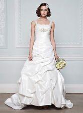 BHS Florentina Taffeta & Lace Wedding Dress Ivory Size 8/10 BNWOT
