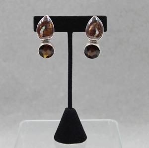 Stephen Dweck Sterling Silver One of a Kind Boulder Opal Drop Clip Earrings 2003