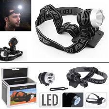LED Stirnlampe Kopflampe 3 Modi Campinglampe Outdoor Handwerkerlampe Helmlampe