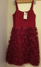 Alannah Hill My Fleeting Love Silk Red Frock Size 8