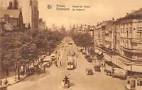 B107004 Belgium Anvers Avenue De Keyser, Tram Vintage Cars