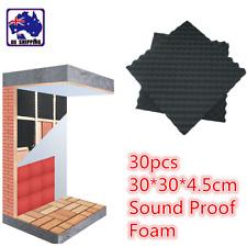 30pcs 30x30x4.5cm Studio Acoustic Sound Proof Foam Panel Tile Music MPA000760x30