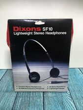 More details for vintage dixons sf10 lightweight headphones new in box