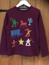 Mini Boden Lovely Girls Western Style Long Sleeve T Shirt Age 5-7yr 100% Cotton