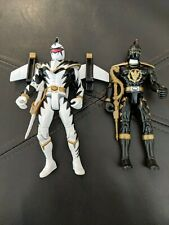 Bandai Power Rangers Dino Thunder Talking White & Black Ranger  Action Figure