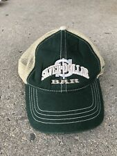 SILVER DOLLAR BAR MISSOULA MONTANA HAT GREEN TAN STRAPBACK ADJUSTABLE