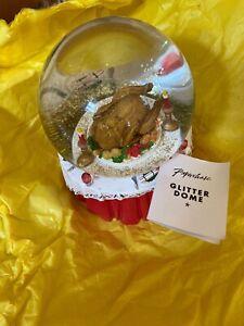 Paperchase Glitter Dome Christmas Turkey Dinner Present Gift Secret Santa