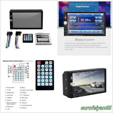 """7080B 7"""" Double 2-Din In-Autos Bluetooth MP5 Player Stereo FM Radio AUX MP3/WMA"""