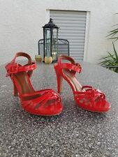 AF high heels Gr 41 UK7 rot Sexy Riemen Pumps Schuhe mit Stiletto  Pfennigabsatz