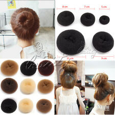 Beauty 9 Color 5 Size Hair Donut Ring Bun Buns Black Brown Blonde Coffee Beige