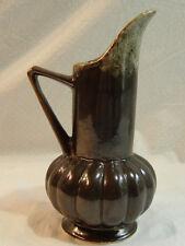 Vintage Brush Quality USA #718 Bronze Metallic Glaze Art Pottery Pitcher/Vase