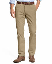 NEW MENS 36x30 TOMMY HILFIGER MALLET KHAKI TAILORED FIT FLAT FRONT CHINO PANTS