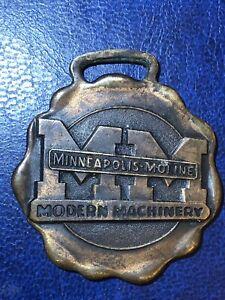 VINTAGE MINNEAPOLIS MOLINE MODERN MACHINERY ADVERTISING WATCH FOB