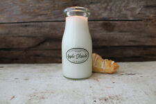 Milkhouse Candle Soy Beeswax 8 Ounce Scented Milk Bottle Candle - APPLE STRUDEL