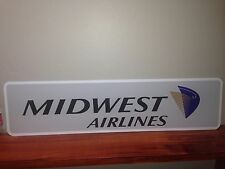 """Midwest Airlines Vintage metal sign 6"""" x 24"""""""