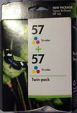 1 twin HP Ink Cartridges HP 57 Tri-Color New Expired