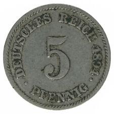 Deutsches Reich 5 Pfennig 1894 E A53997