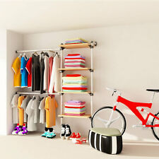 Wardrobe Storage Railing and Shelving Kit for sliding or walking wardrobe ADA