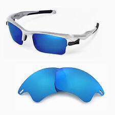 New Walleva Polarized Ice Blue Lenses For Oakley Fast Jacket XL