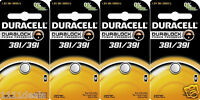 4 Duracell 381 391 AG8 Watch and Calculator Batteries