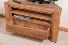 SOLID  RUSTIC SAWN PLANK CORNER TV STAND  | Hand-waxed | Handmade to Order