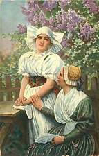 EASTERN EUROPEAN WOMEN IN TYPICAL CLOTHING POSTCARD c1910