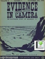 """2x Evidence in Camera - Normandy Mulberry """"B"""", Bomb Damage, Flak - as PDF or CD"""