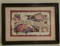 "Homco Home Interiors Picture 10"" x 14"" POWDER ROOM FLORAL PICTURE"