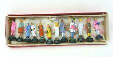 More details for vintage indian folk art clay / plaster toy figures set of 12