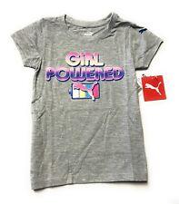 PUMA Girls' Short Sleeve T- Shirt