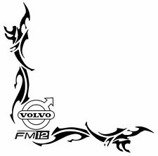 VOLVO FM12 Side Window Decalcomanie Adesivi X 2