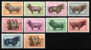 MONGOLIA 1958 - SET MONGOLIAN ANIMALS MLH