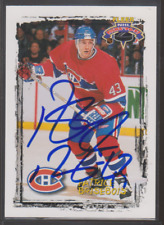 Autographed 96/97 Fleer Picks Patrice Brisebois - Canadiens