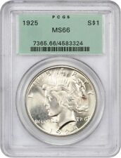 1925 $1 PCGS MS66 (OGH) Old Green Label Holder - Peace Silver Dollar