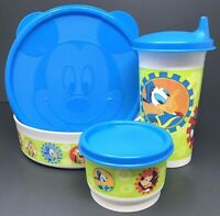 Tupperware Disney 3 Piece Lunch Set Bowl Snack Cup Tumbler Mickey Mouse New