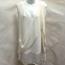 BCBG Maxazria Runway M Sophie Dress White Ivory Draped Tiered Shift