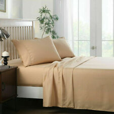 """Bed Sheet, 4 Pieces Sheet Set Deep Pocket Up to 14"""" - Luxury 3000 Series"""