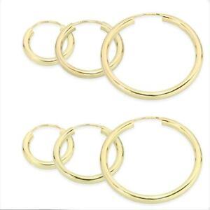 8k or 14k Solid yellow GOLD HOOP EARRINGS PAIR- Singl Huggies MEN WOMEN CHILDREN