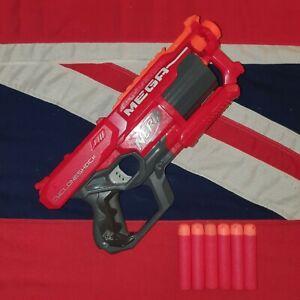Nerf MEGA Cycloneshock Pistol Blaster Gun 6 Red Foam Darts BUNDLE JOB LOT LARP