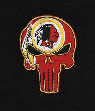 REDSKINS Punisher Skull Rockabilly Motorcycle Biker Patch - Iron ON