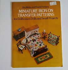 Vintage Miniature 1979 Iron-on Transfer Embroidery Patterns Doll Houses over 100
