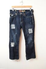 Big Star Pioneer Mens Jeans 32R Holes Distressed Dark Wash Boot Cut